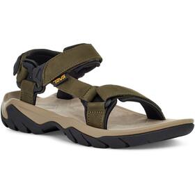Teva Terra Fi 5 Universal Leather Sandals Men, Oliva/beige